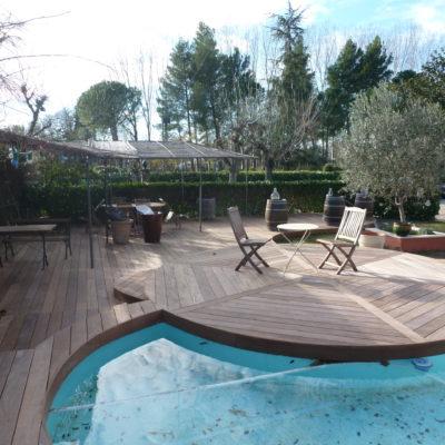 Les Extérieurs-Terrasses-Tour de piscine-Palissades